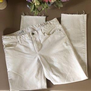 Gap 1969 Real Straight White Raw Hem Jeans. 29 Reg